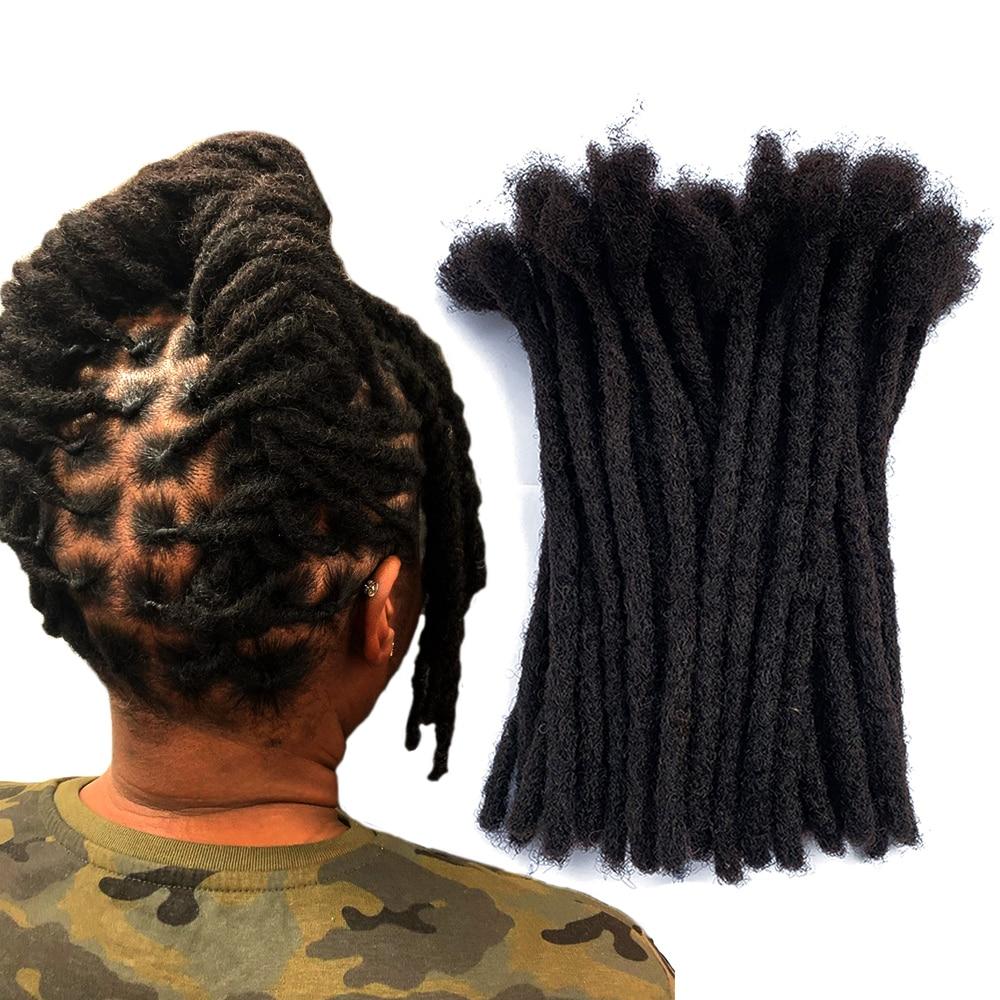 YONNA 100% Remy Human Hair Dreadlocks Extensions Full Handmade 0.8cm Width(1/3