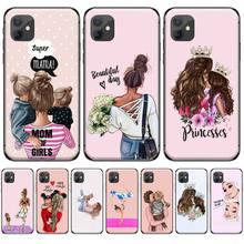 цена Fashion Queen Girl Mom Baby Phone Case Cover For iphone 4 4s 5 5s 5c se 6 6s 7 8 plus x xs xr 11 pro max онлайн в 2017 году