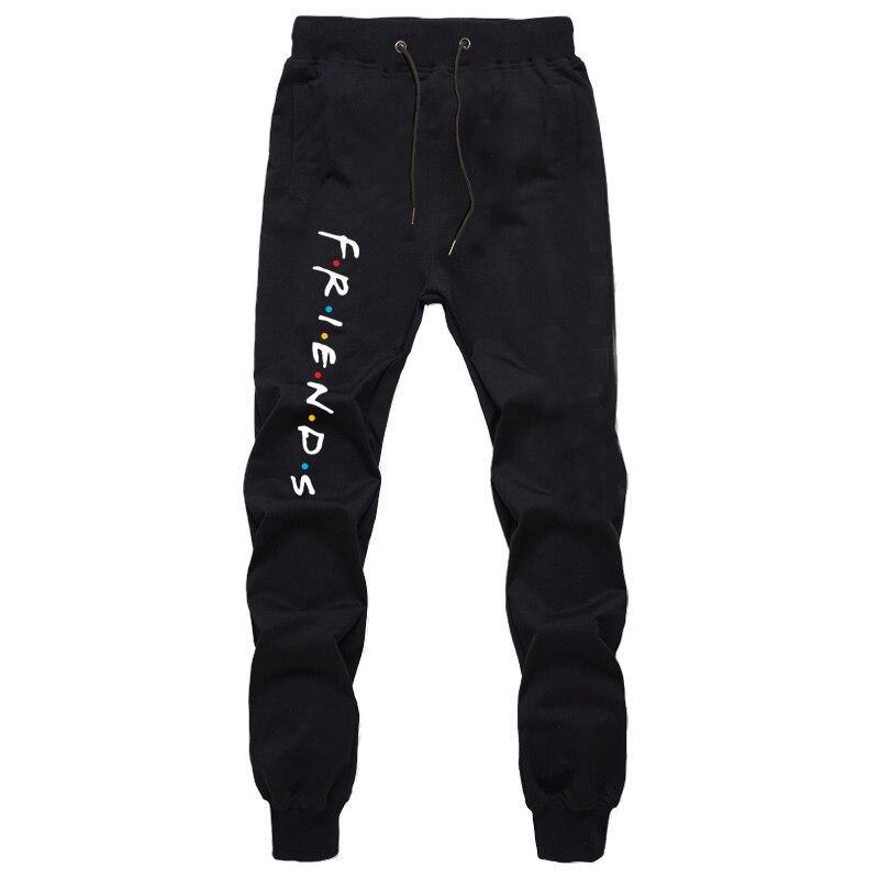 Harajuku Cotton Sweatpants For Men Autumn Fashion Loose Full Length Trousers Boys Joggers Workout Trousers Casual Long Pants