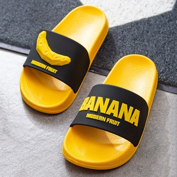 Fashion Banana Fruit Home Slippers Summer Women Indoor Flats Orange Bathroom Slides Non Slip Male Couple Shoes EVA Slipper 2020 summer cool rhinestones slippers for male gold black loafers half slippers anti slip men casual shoes flats slippers wolf