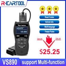 Narzędzie diagnostyczne VS890 Auto skaner Vgate VS890 OBD2 CAN-BUS usterki samochodowy czytnik kodów VS 890 wielojęzyczne lepiej ELM327 AD310