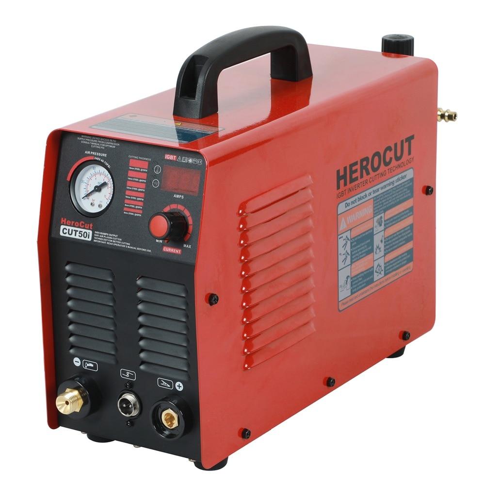 Herocut CUT50i Plasma Cutter IGBT Air Plasma Cutter  220V 50Amps 14mm Clean Cut