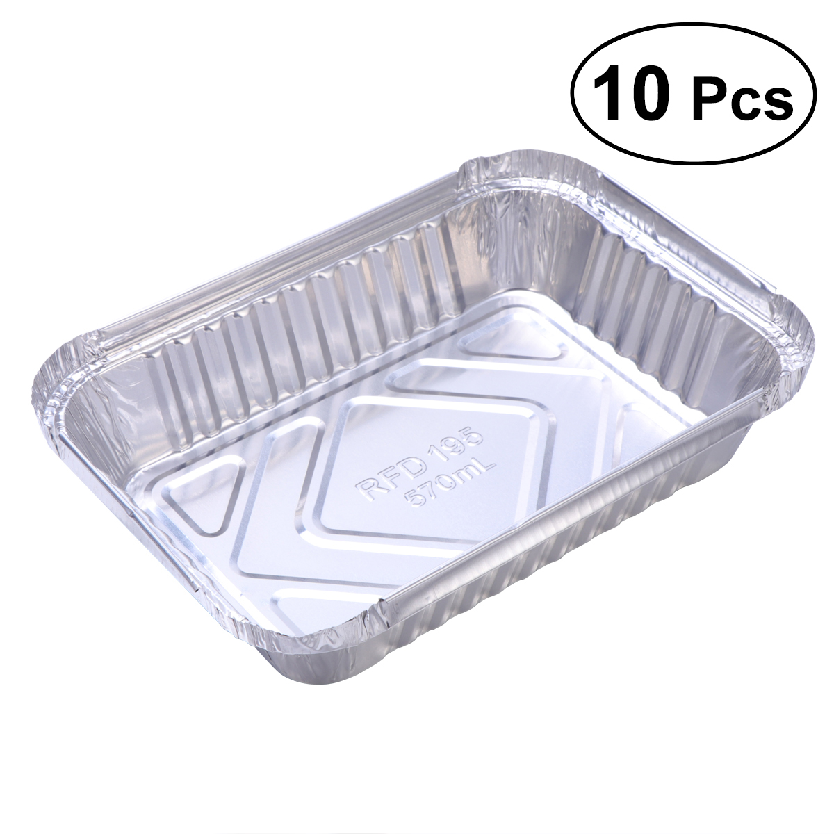 10 Pcs Disposable BBQ Drip Pan Tray Aluminum Foil Tin Liners For Grease Catch Pans Replacement Liner Trays