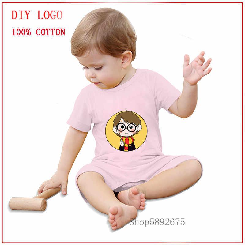 Гарри любовь-Гарри Поттера комбинезон одежда для малышей Одежда для маленького мальчика Одежда для маленьких девочек мальчиков Racing Велоспорт de bebe irl и для мальчика, с коротким рукавом, хлопковый облегающий костюм