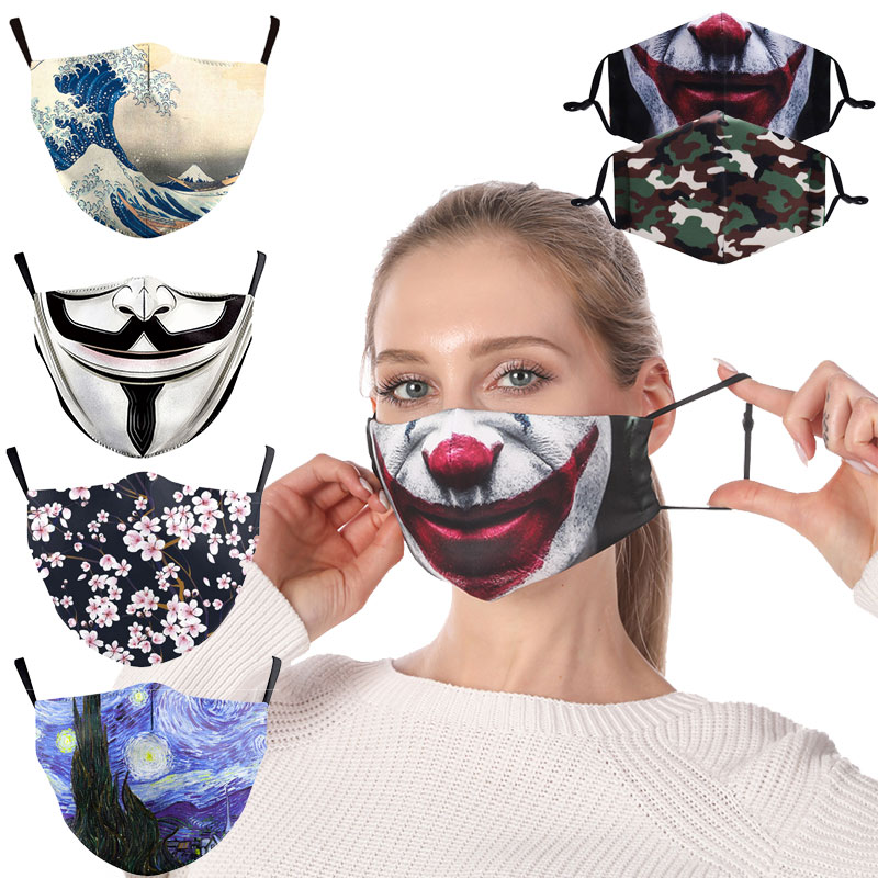 New Cartoon Unisex Anti-Infection Virus Face Mouth Masks Cover Reusable Protection Dust Breath Washable Mask Proof Bacteria Mask