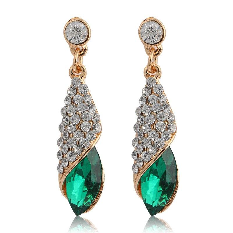4 Colors Girls Vintage Fashion Acrylic tassel Earrings Women Crystal Water Drop earrings Jewelry Wedding Pierced Dangle Earrings 2