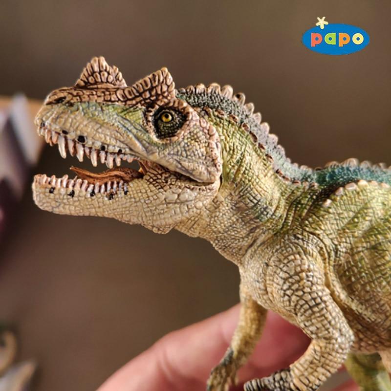 Papo Simulation Dinosaur Animal Model Ceratosaurus Children Toys