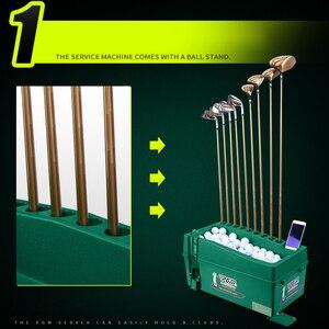 Image 3 - Multifunzionale Pallina Da Golf Automatico Server Pitching Macchina Robot Altalena Allenatore Può Contenere 60 100 Palle E 9 Golf Aste telaio Pole