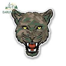 EARLFAMILY 13cm x for Cartoon Camo Panther Oem Funny Car Stickers RV VAN 3D DIY Fine Decal Waterproof Anime Graphics