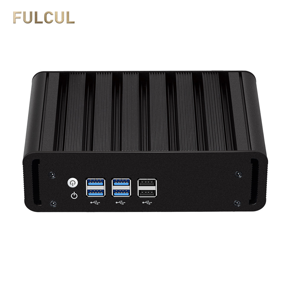 Fanless Mini PC Intel Core I3 5005U I7 4500U Celeron 2955U Processor Desktop DDR3L Mini SATA HDMI 8*USB Graphics 4400 Computer