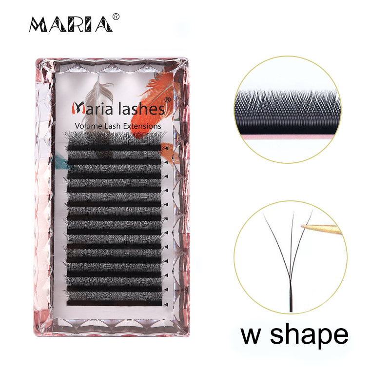 3D W Shaped Soft Lash Extension Supplies 0.05 Wholesale Beauty Natural Makeup Free Easy Fan Eyelashes Y Clusters Private Label 1