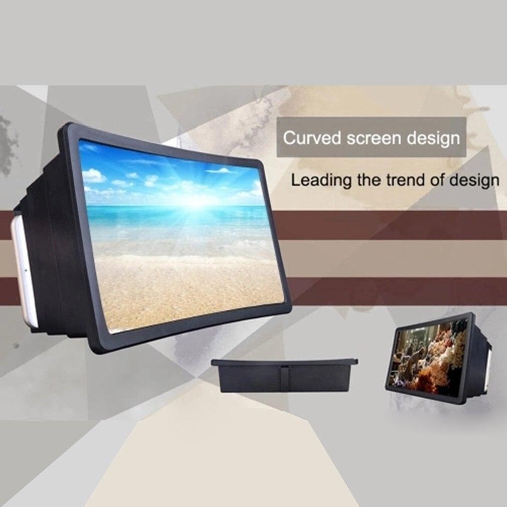 18.5 x 12.5 см смартфон лупа оптическое 3D HD мобильный телефон экран усилитель гибкие видео Видео настольная подставка портативный