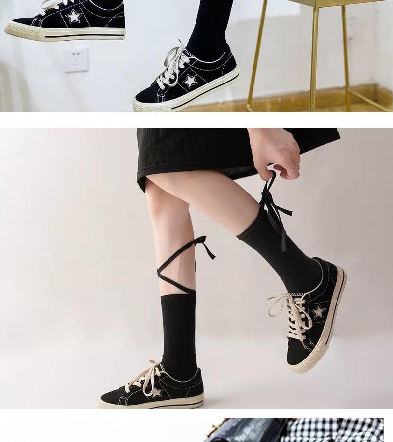 2 pairs lot pack women socks fashion Bandage Combed cotton socks Japanese style manual DIY Rope socks Explosion socks