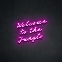 Niestandardowe witamy w dżungli Neon Logo wodoodporny Led wizualny pasek ścienny zapala się znak Neon Decor Neonlamp do pokoju tanie tanio CN (pochodzenie) Rectangle Akrylowe