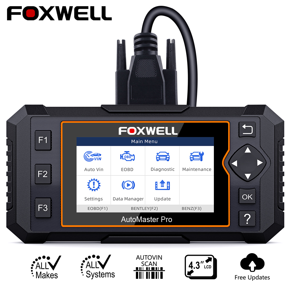 Foxwell NT624 Elite OBD2 Full System Diagnostic Tool ABS SRS SAS Oil EPB Servic Reset ODB2 OBD2 Automotive Scanner Free UpdateCode Readers & Scan Tools   -