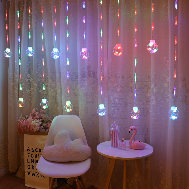 LED String Lights Copper Wire Starry Crystal Curtain Lamp EU Plug  Outdoor Wedding Party Christmas Fairy Room Ball Light String