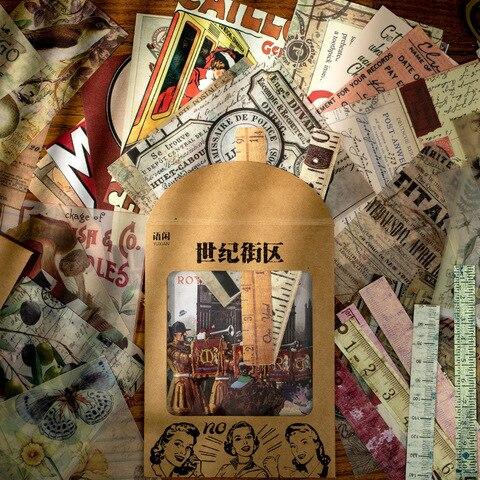 10 jogos lote kawaii papelaria adesivos retro livro de memoria diy artesanato scrapbooking album diario