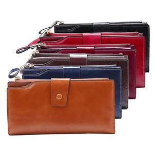 Image 5 - New Women Genuine Leather Wallets Female Zipper Purses Big Capacity Woman Purse Ladies Long Hasp Wallet Clutch Coin Card Holders