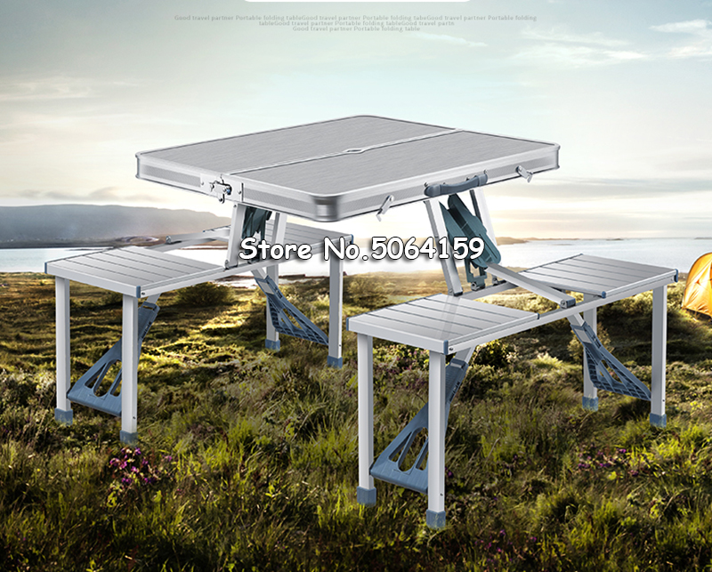 Outdoor Folding Table Chair Camping Aluminium Alloy Picnic Table Waterproof Ultra-light Durable Folding Table Desk For BBQ