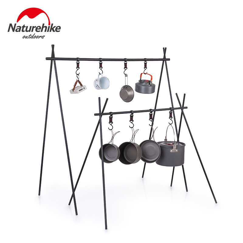 Naturerandonnée ChenYi en alliage d'aluminium support suspendu en plein air Camping 8kg poids de roulement support triangulaire vêtements support de rangement NH19BJ082