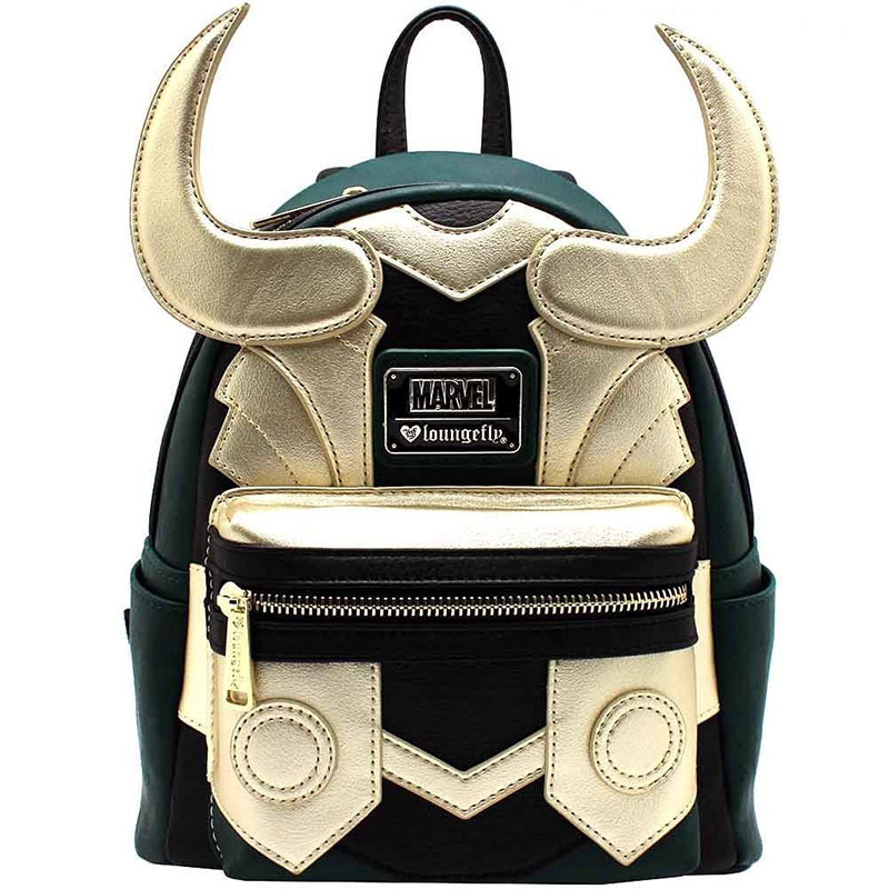 2019 Movie Thor 3 Ragnarok Loki Laufeyson Helmet Cosplay <font><b>Backpack</b></font> Canvas Adult Travel Student Shoulder Bags Gift Accessory image