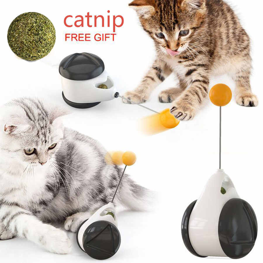 Smart Cat Toy with Wheels Automatic No need recharge pet cat toys interactive Rotating Mode Funny not boring cat playing balls