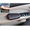 Для Hyundai Ioniq I30 I20 I10 Veloster Kona 1 шт. из углеродного волокна Кожаная подушка для ног наколенник подлокотник подушка аксессуары для интерьера авто...
