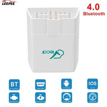 Viecar ELM 4.0 V1.5 Scanner pour Android/IOS, Bluetooth 327, lecteur de Code pour voiture dorigine, prise OBD2