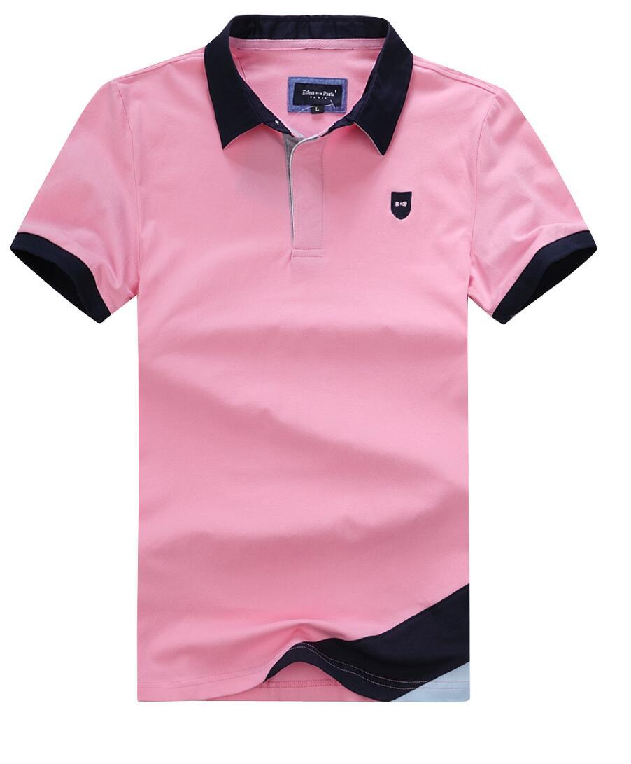Eden-парк, Классические мужские наручные часы, футболки-поло летние мужские футболки-поло с вышивкой логотипа из эластичной ткани на хлопково...