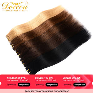 Human-Hair-Extensions Remy-Hair Doreen Machine-Made Clip-In Natural Straight Full-Head