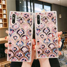 Bling marble pattern Glitter Dynamic Liquid Quicksand Soft Case For Samsung Galaxy Note 10 Pro Cover back