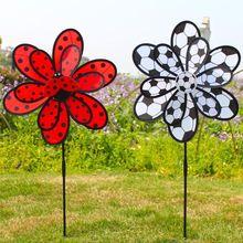 Kids Toys Windmill Decor Pinwheel Wind-Spinners Garden-Decorations Football Yard Double-Layer