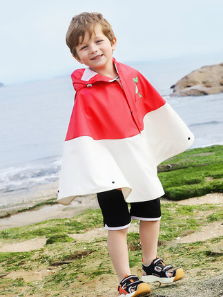 Creative Cartoon Children Raincoat Boys and Girls Long Kids Rain Coat Jacket Kindergarten Yellow Waterproof Cute Rain Poncho 2