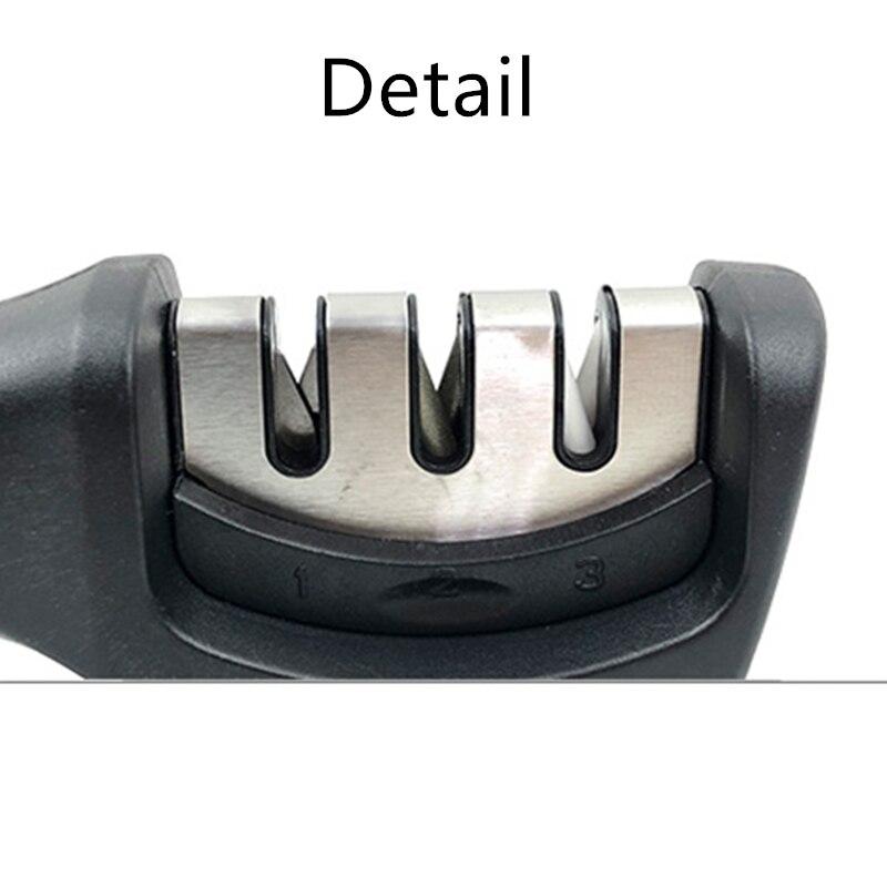 Pengasah Pisau 3 Tahap Dapur Profesional Asah Batu Gerinda Pisau Batu Asahan Tungsten Diamond Ceramic Alat Pengasah