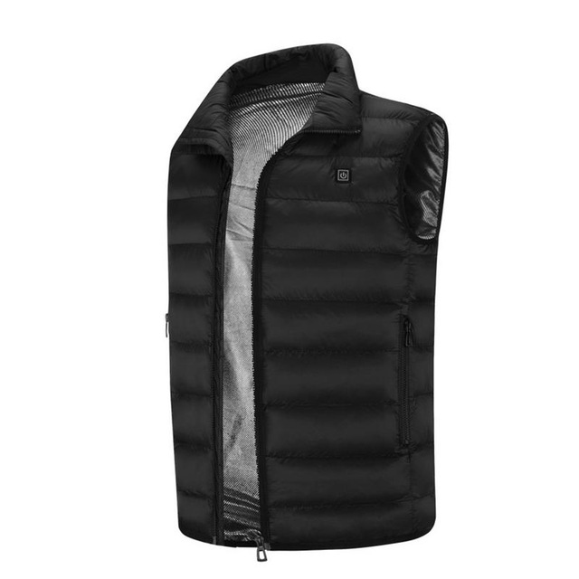 2020 Men Outdoor USB Infrared Heating Vest Jacket Men Women Winter Electric Thermal Clothing Waistcoat For Sports Hiking 8