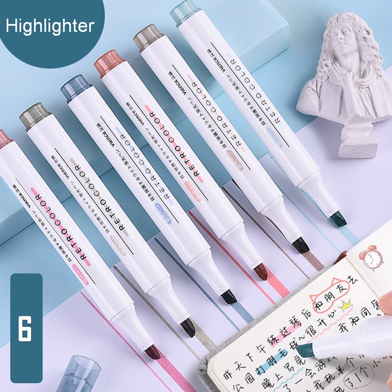 Канцтовары для школы и офиса, набор маркеров для набросков, милые цветные ручки для рисования