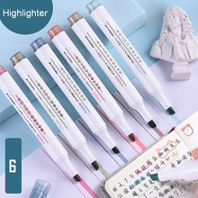 School Office Stationery Highlighters Set Sketching Markers Supplies Kawaii Cute Color Pens For Drawing