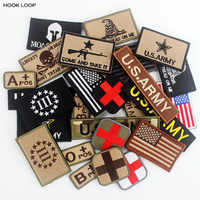 Outdoors US Army Military Badges Hook Loop Patches Tactical Emblem Appliques for Hat Backpack Cloth Decoration