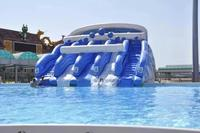 summer water game inflatable water slide