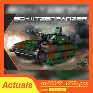 Xingbao Military Technic Axis panthet Tanks Infantry vehicles Building Blocks Weapon War Creator Army WW2 lepined Bricks Toys(China)