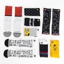 Unisex Fashion Men Socks 100 Cotton Harajuku Colorful Full Socks Men 1 Pair Size 35-43 Street Fashion