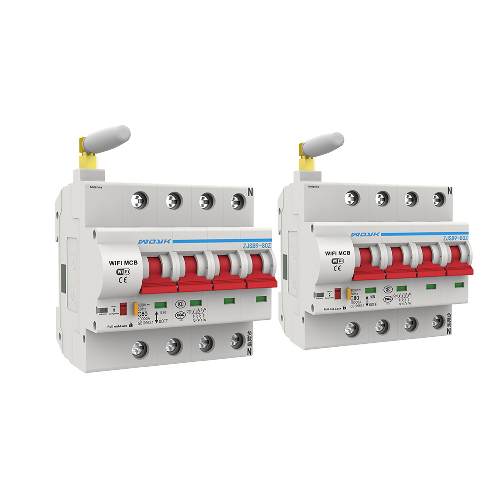 2pcs 4P WiFi Smart Circuit Breaker overload short circuit protection with Amazon Alexa Google home for