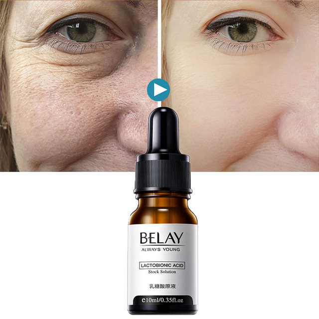 Lactobionic Acid Face Serum Anti-Aging Wrinkles Essence Exfoliating Shrink Pores Anti-Oxidation Lift Firming Remove Fine Lines 1