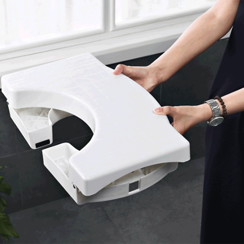 Image 2 - 41x25x17.5Cm Non Slip Toilet Foot Stool Folding Children'S Potty Footstool Professional Toilet Auxiliary Stool Bathroom Supplies-in Bathroom Chairs & Stools from Furniture