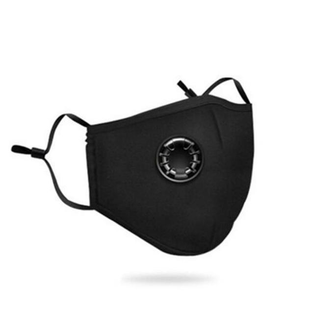 Cotton PM25 Black mouth Mask anti dust mask Activated carbon filter Windproof Mouth-muffle bacteria proof Flu Face masks Care 3