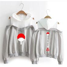 Sasuke/Kakashi Women Streetwear Hoodies Off-Shoulder Sweatshirt Clothing Fashion New Sexy Casual Ladies Hoodie Girls Sweatshirt