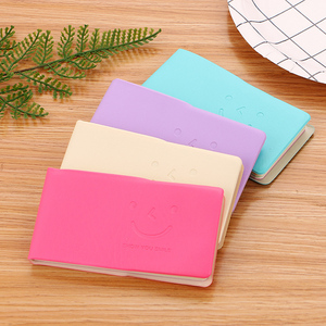 Quality Pocket Notebook Internal Filling Paper To Do List Plan Notepad Solid Color Leather Shell Stationery Office Supplies 1 Pi