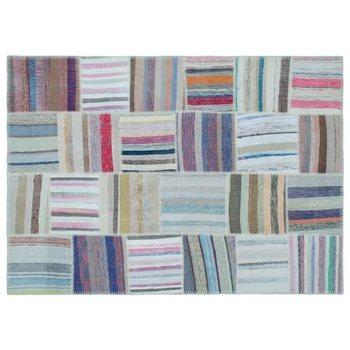Handmade Multicolor Vintage Patchwork Rug Area Rug 160x225 Cm-5'3''X7'5'' фото