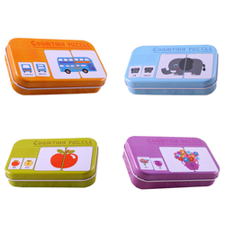 kids Montessori Educations Fun English Word Pocket Flash Card Baby Learning Educational  table game Puzzle Match WJ597