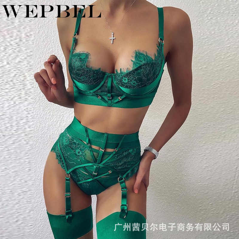 Wepbel Vrouwen Casual Kant Bandage Cross Bikini Crop Top + Hoge Taille Shorts Hollow Out Sexy Ondergoed Bikini Sets